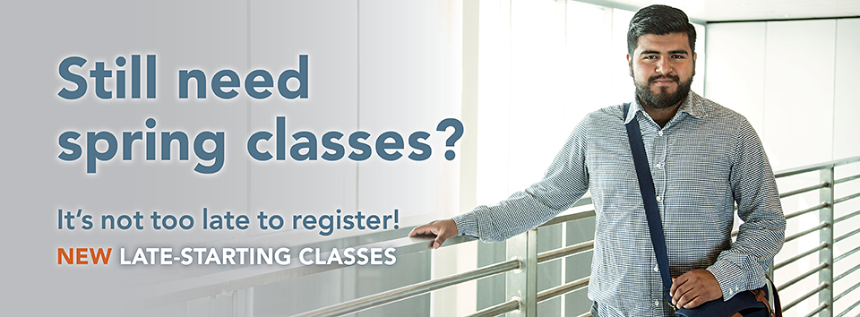 Spring classes with available seats