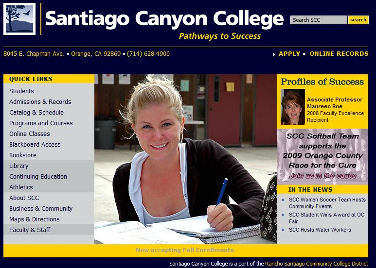 SCC Home Page with Makeover