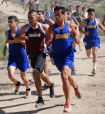 SCC Hawks running at Santa Barbara