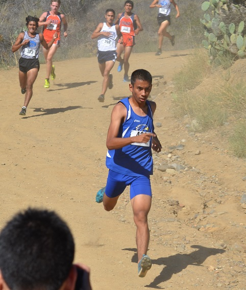 Student Hawk Running at Brubaker Invitational