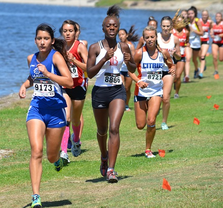 Student running at Southern California Regional Preview