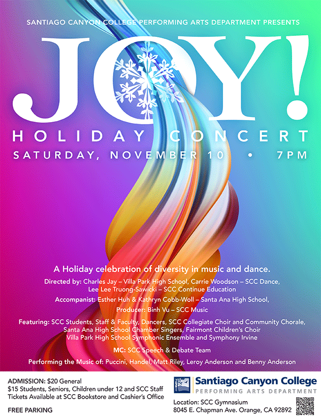 Joy Holiday Concert - November 10 - 7 p.m.