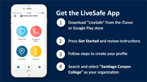 Steps to getting the LiveSafe App for the iPhone or Android