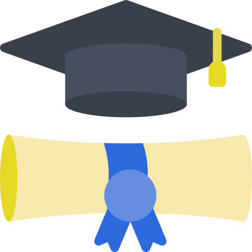 Graduation Cap and Diploma Icon.png
