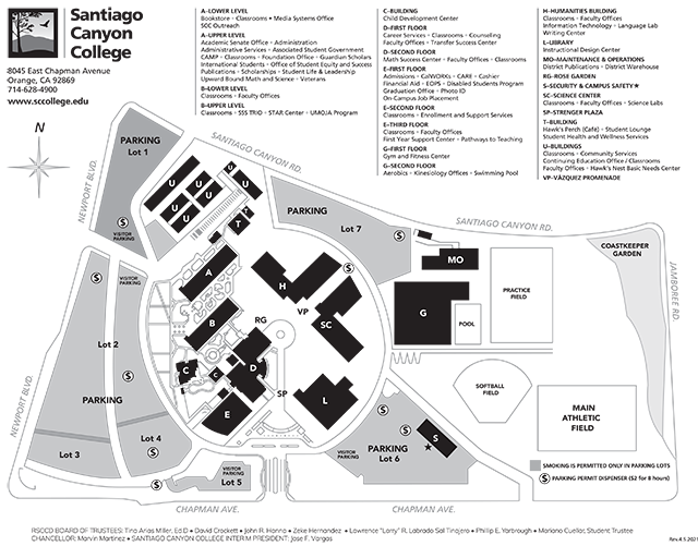 College Of The Canyons Campus Map Campus Map