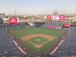 Aerial photo of Angel Stadium