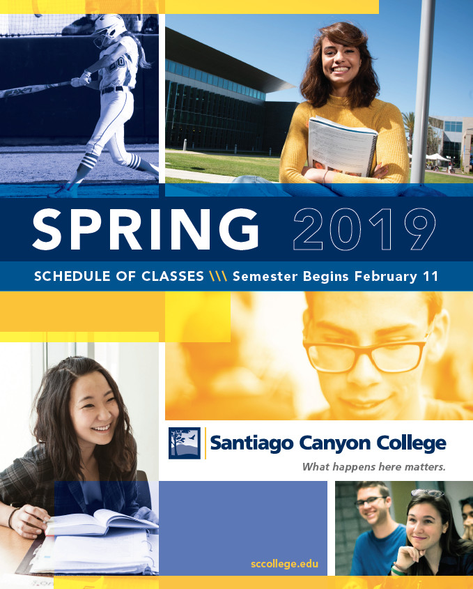 Spring 2019 Schedule Cover