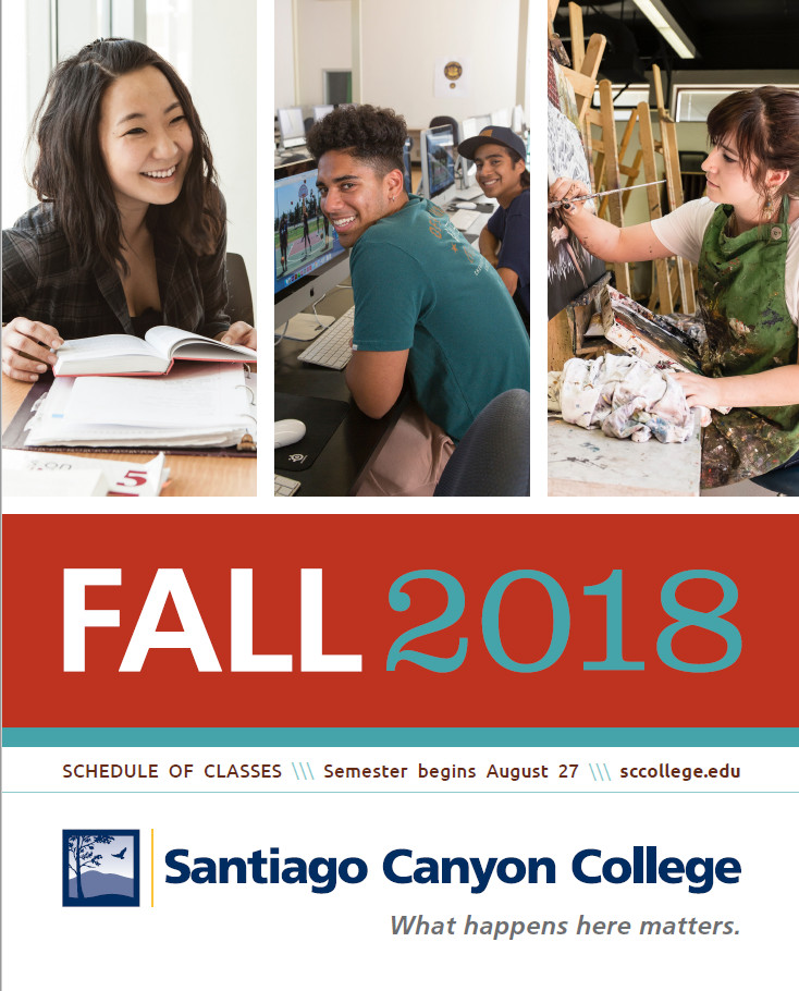 SCC Fall 2018 Schedule Cover