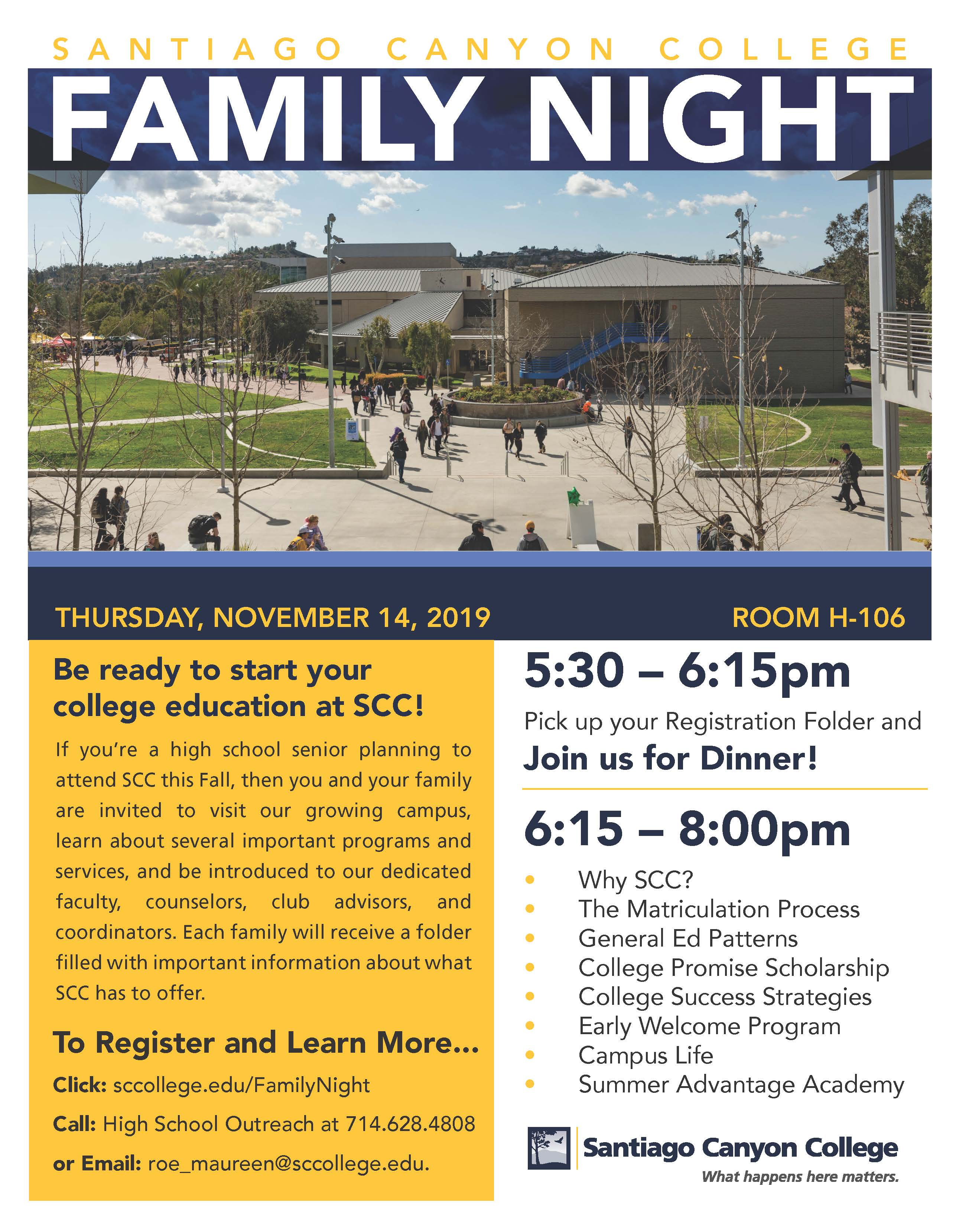 Promotional flyer for Family night. Text from flyer also included below.