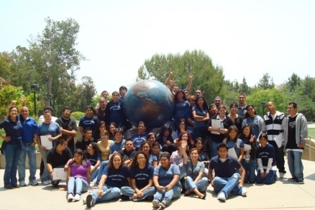 The EOP&S Summer Success Program students on a campus tour at Concordia University. This past year, EOP&S helped to serve 453 underrepresented students pursue their educational goals.